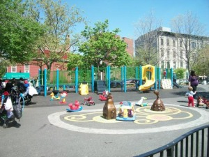 The Underhill Playground in Prospect Heights, Brooklyn.