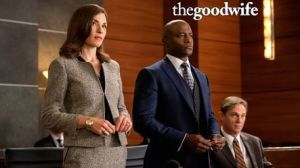 Juliana Margulies and Taye Diggs as lawyers on The Good Wife.