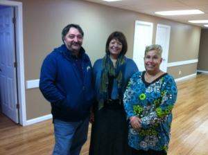 Laurie with church members Don and Joyce (the Clerk of Session).